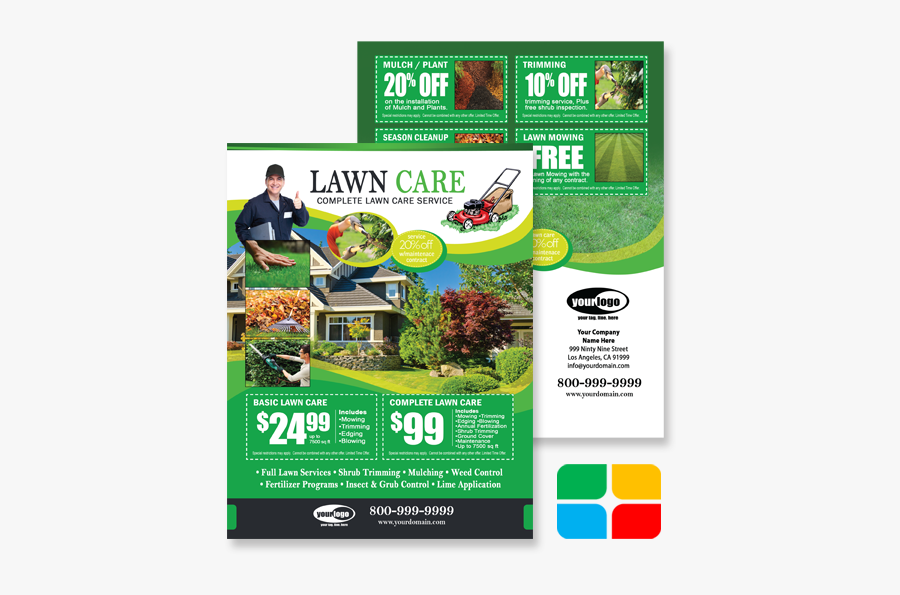 Clip Art Mowing Flyers - Lawn And Pest Control Flyer, Transparent Clipart