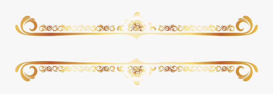 Transparent Gold Rush Clipart - Border Gold Vector Png, Transparent Clipart