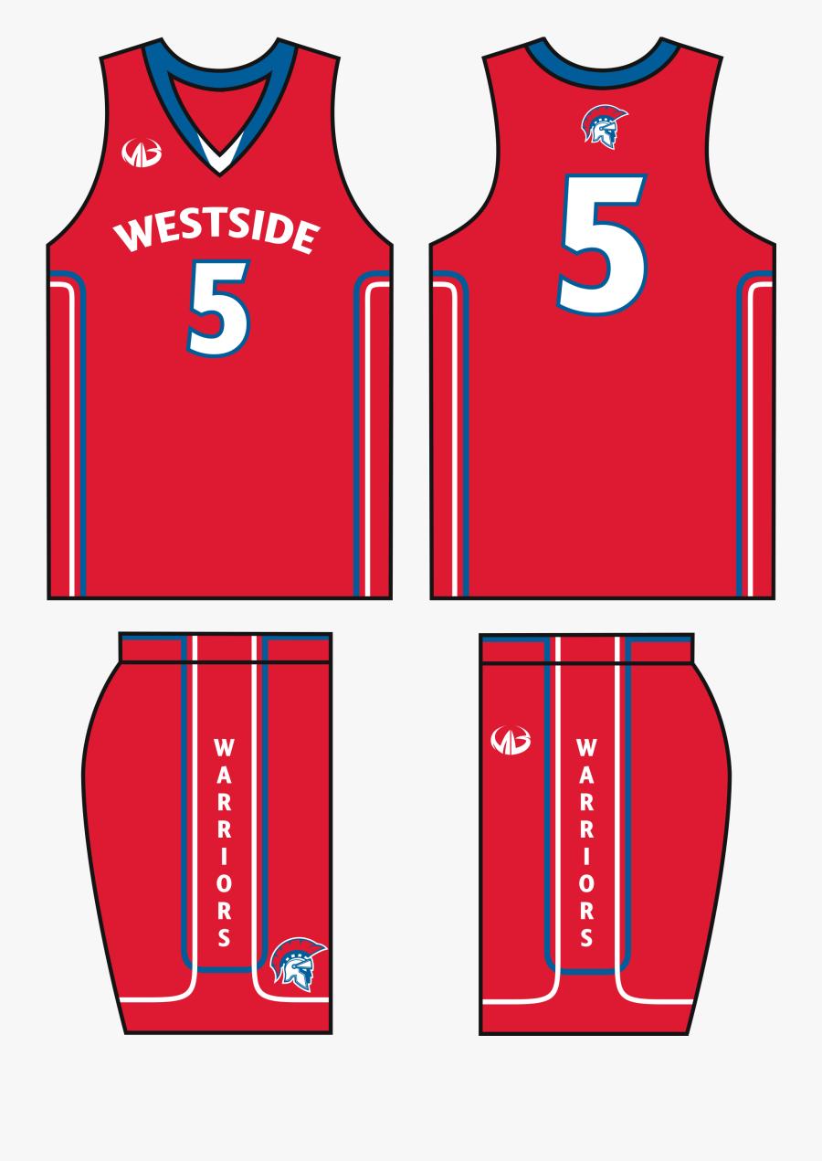 Beautiful Template Best Custom Uniforms Sports Ⓒ - Red Basketball Jersey Design, Transparent Clipart