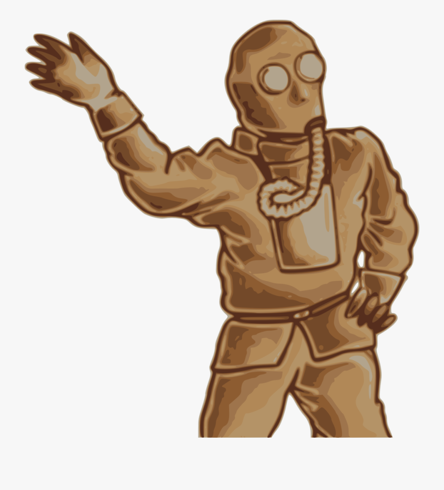 Japanese Gas Mask Man - Man With Gas Mask Png, Transparent Clipart