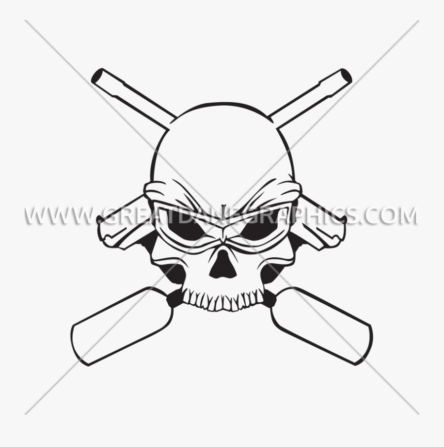 Paintball Clipart Black And White - Skull, Transparent Clipart