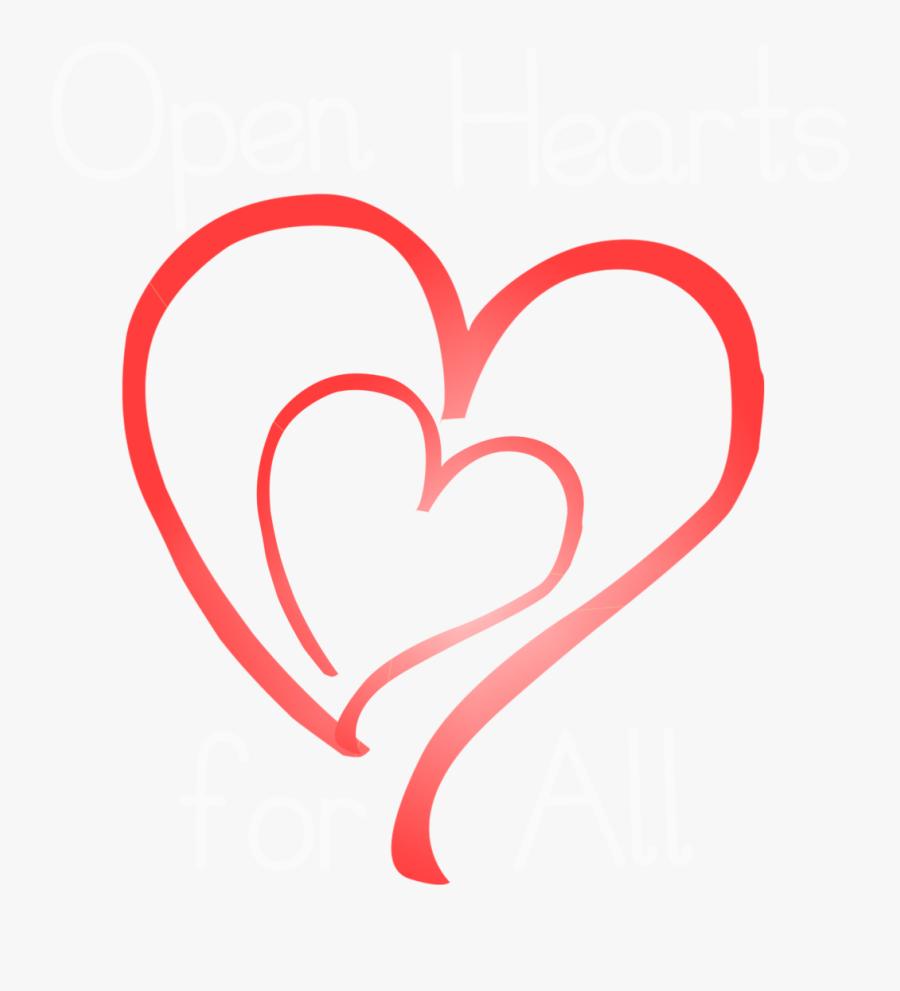 Transparent Open Heart Clipart - Heart, Transparent Clipart