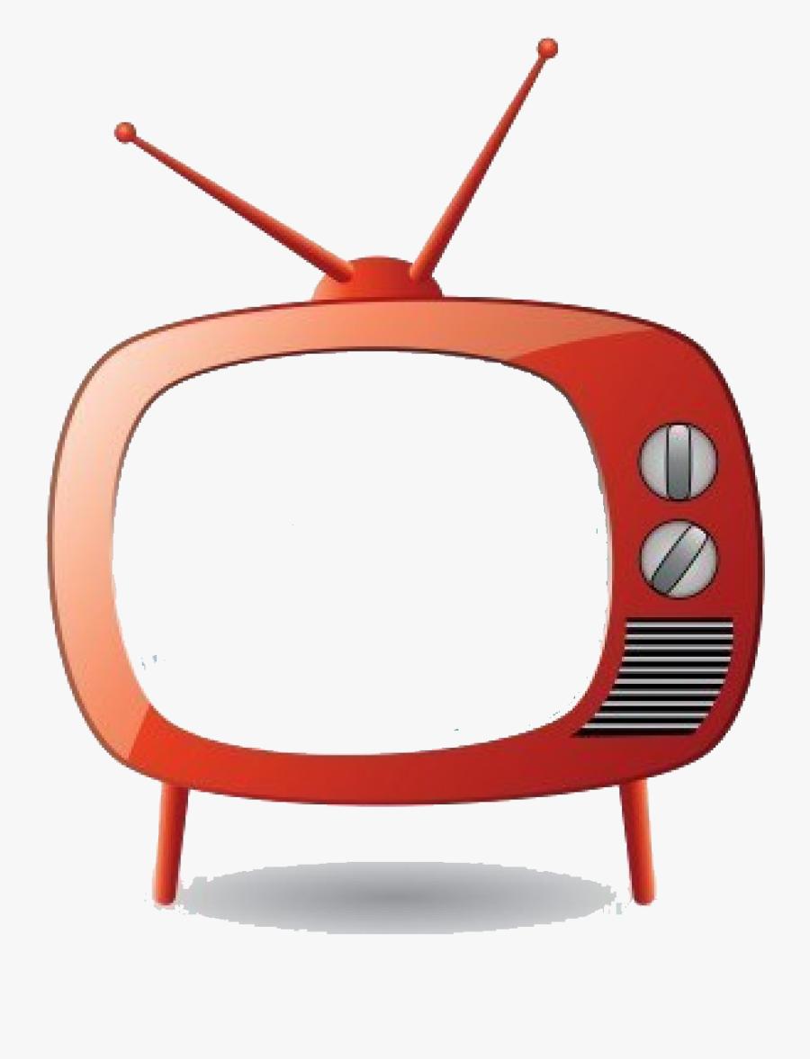 September Friendsofmeredith Redretrotvset - Tv Set Cartoon, Transparent Clipart