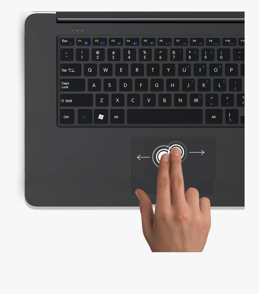 Rdp Thinbook Clipart Computer Keyboard Ipad Air - Apple Laptop Keyboard Drawing, Transparent Clipart