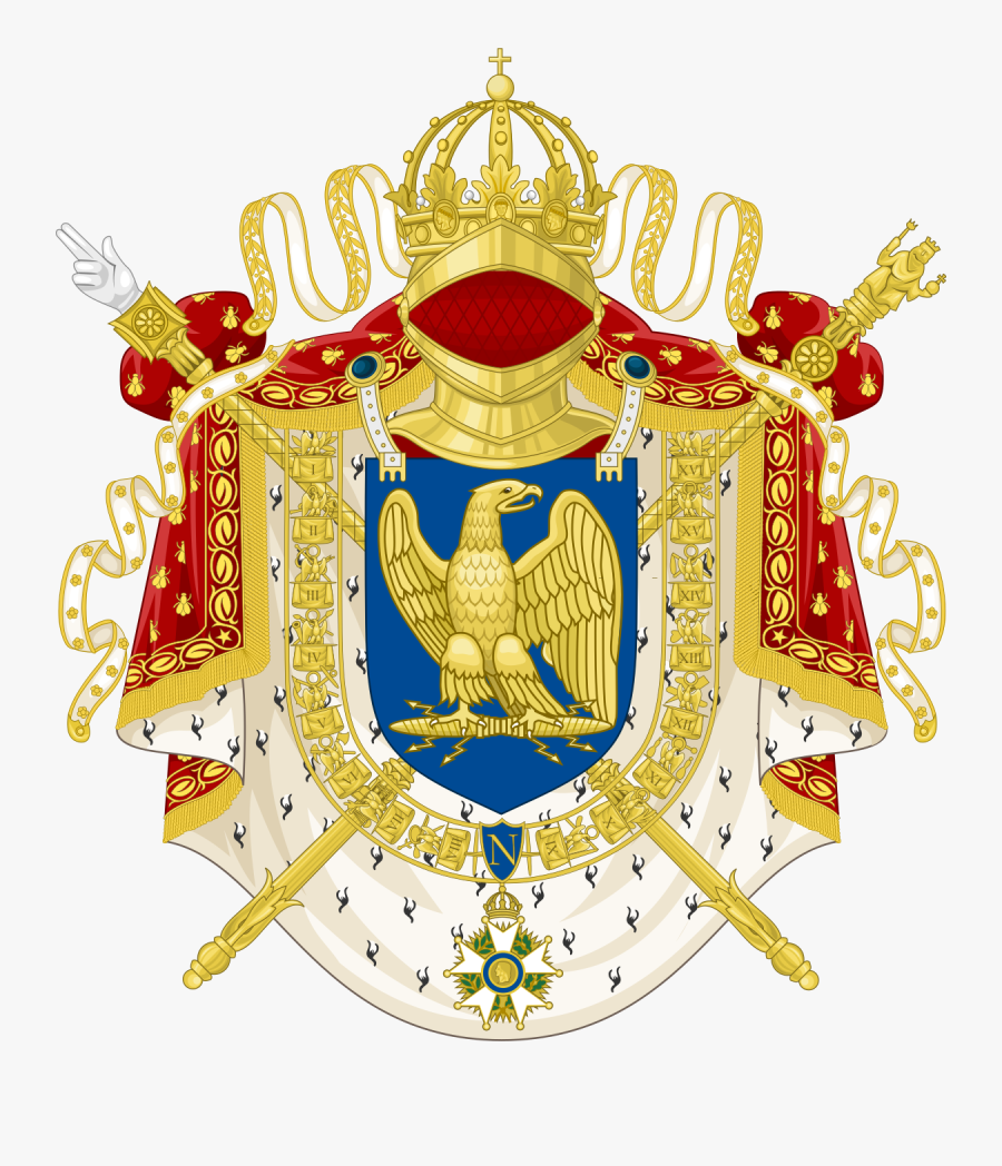 First French Empire Coat Of Arms, Transparent Clipart