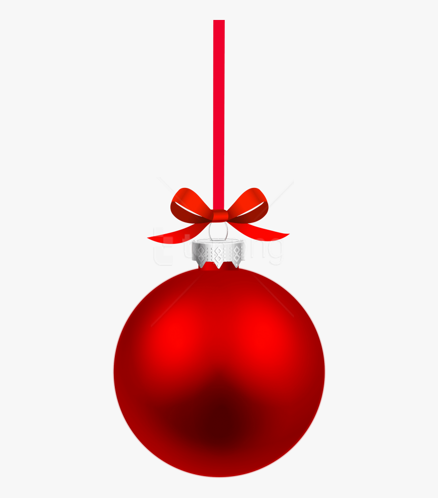 Christmas Balls Clipart, Christmas Graphic And Illustrations - Red Christmas Ball Png, Transparent Clipart