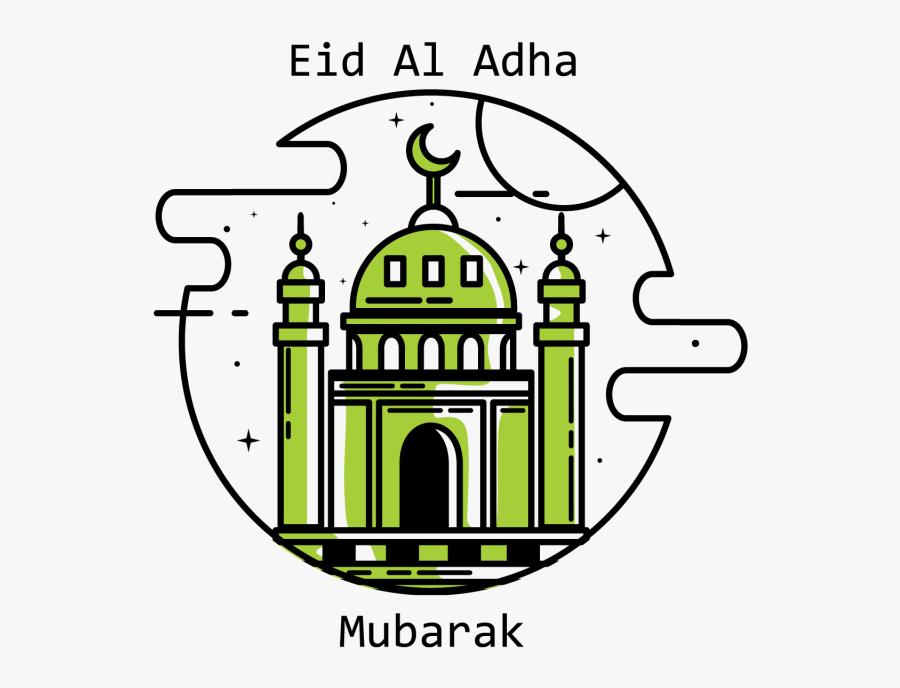Transparent Mosque Clipart - Eid Al Adha Design, Transparent Clipart