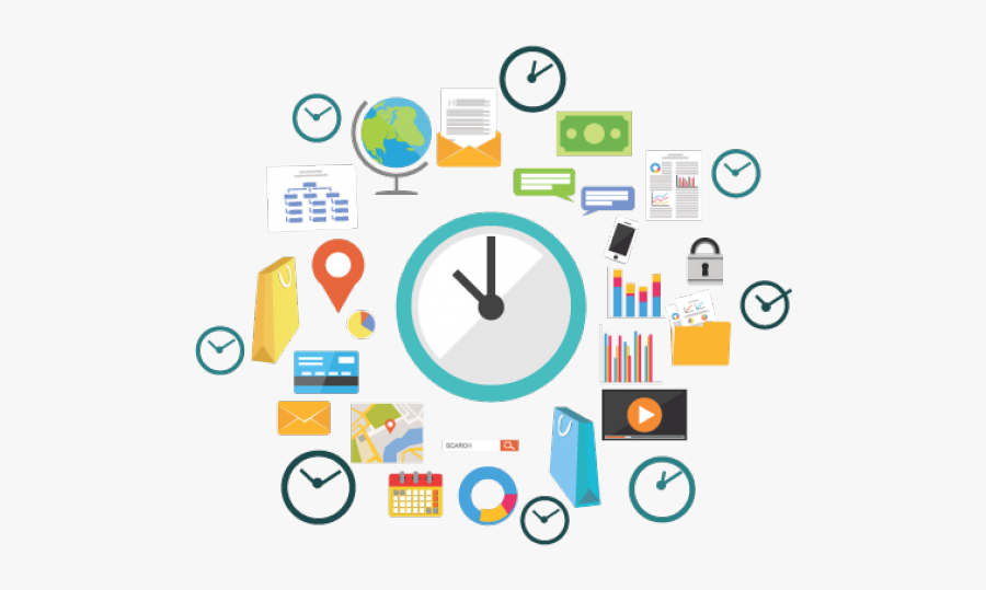 Time Management Clipart - Time Management Skills In School, Transparent Clipart