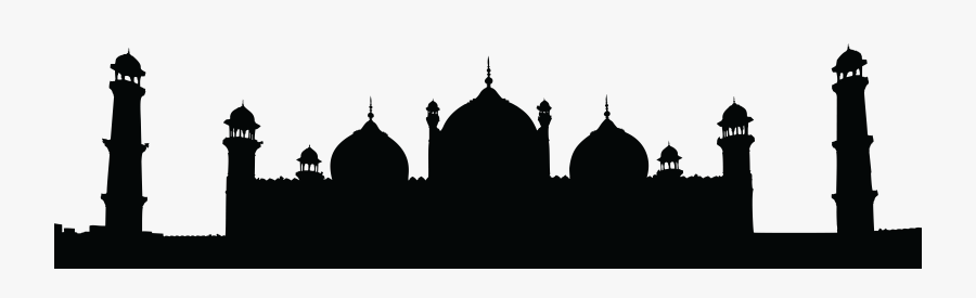 Mecca Drawing Black Stone Grand Mosque Frames Illustrations - Badshahi Mosque, Transparent Clipart