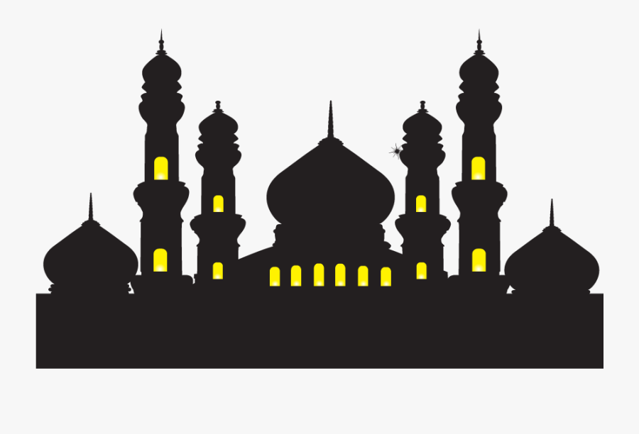 Mosque Ramadan Islam Illustration - Baground Masjid Hijau Vector, Transparent Clipart