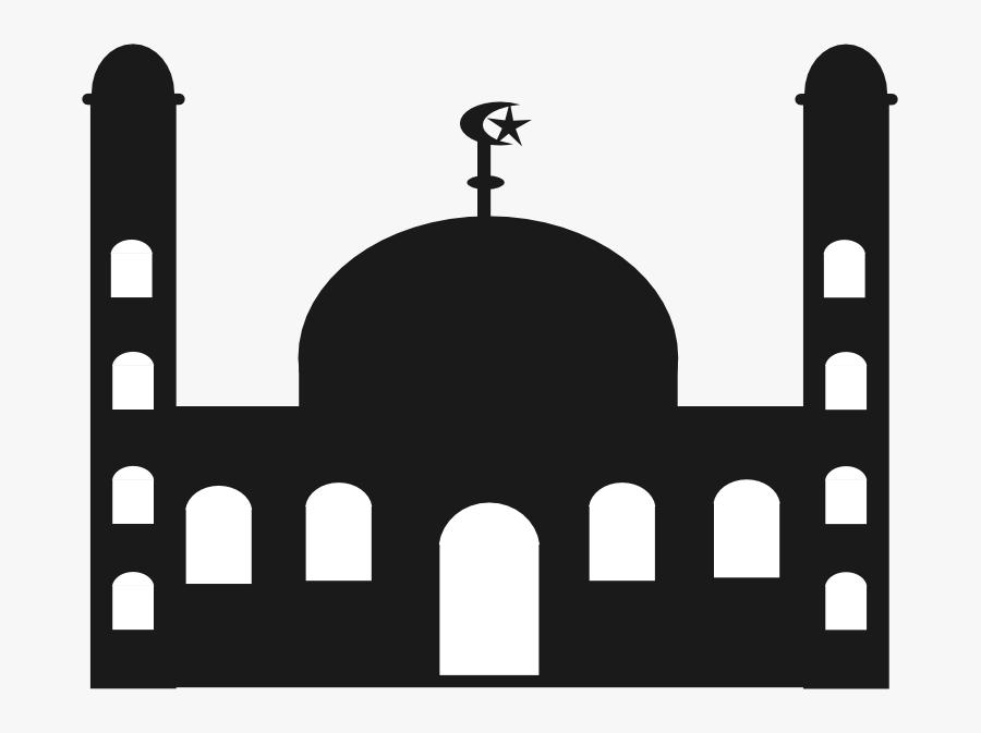 64875 - Kubah Masjid Bulan Vector, Transparent Clipart