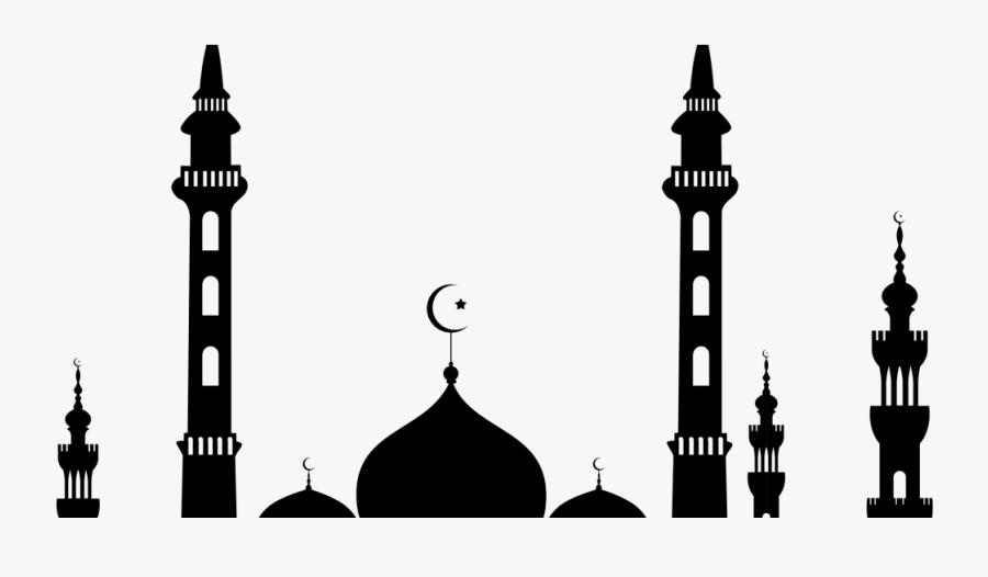 Mosque Silhouette Islam Eid Al-fitr - Clipart Of Mosque, Transparent Clipart