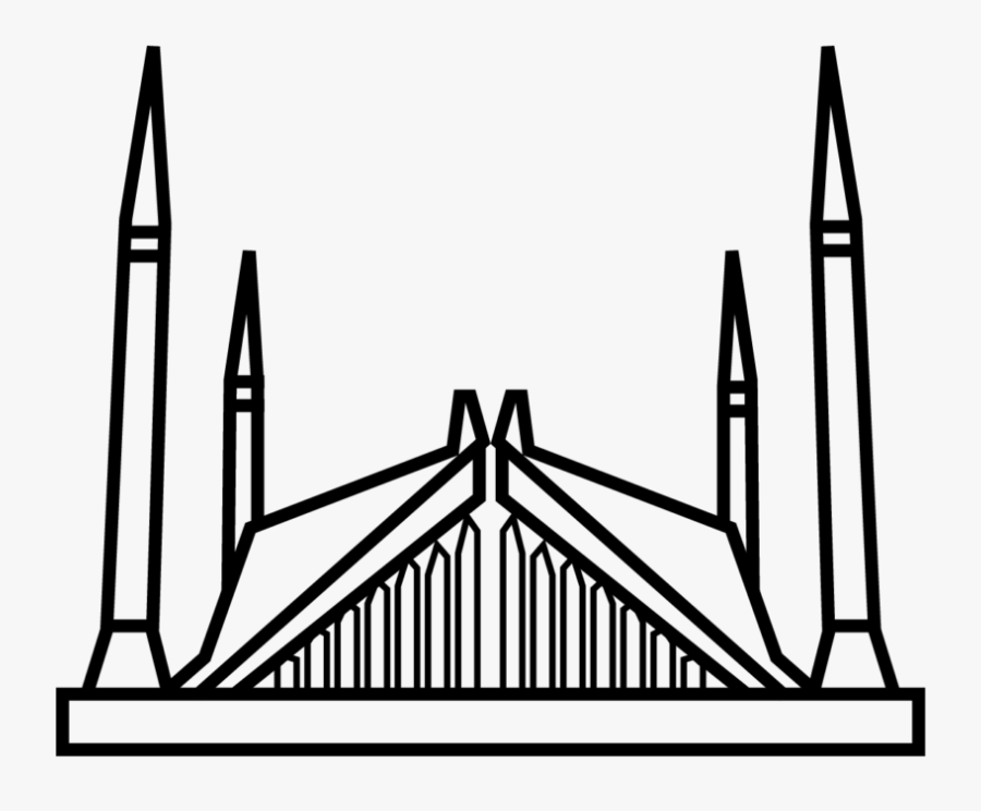 Faisal Mosque Icon Png, Transparent Clipart