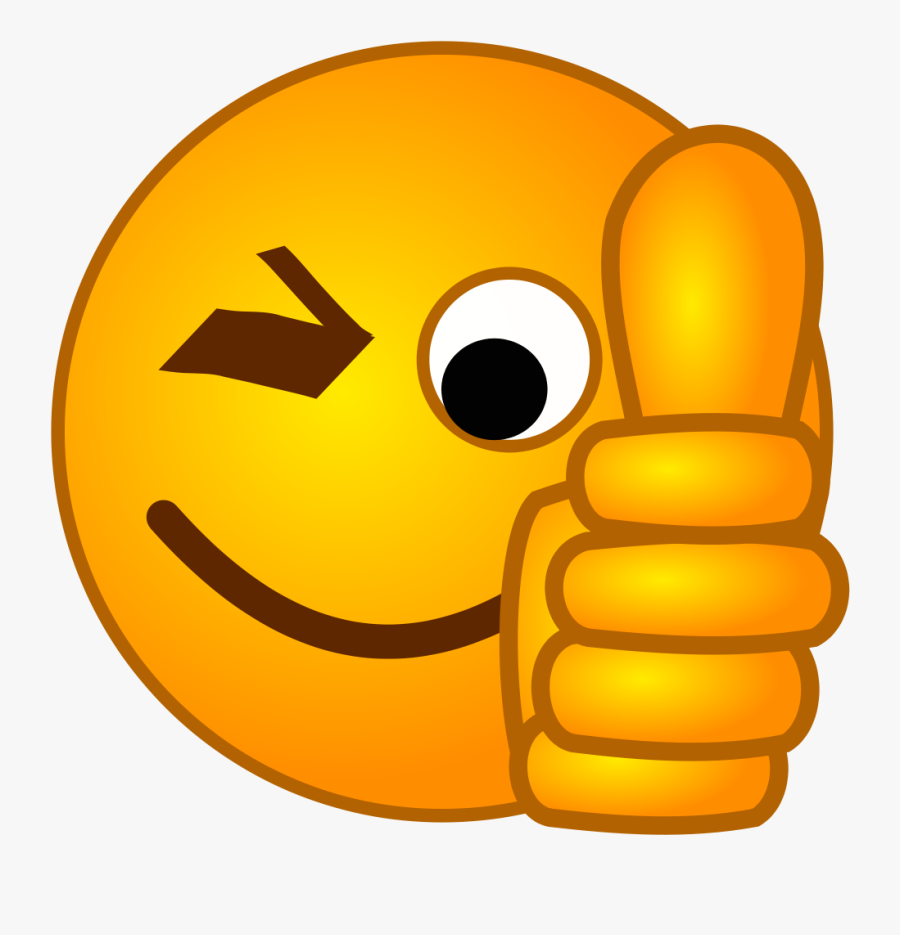 File - Smirc-thumbsup - Svg - Wikimedia Commons - Thumbs - Thumbs Up Smiley, Transparent Clipart