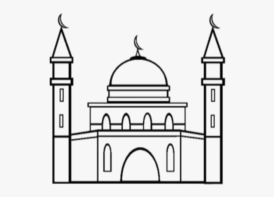 Transparent Mosque Clipart - Mosque Coloring Pages, Transparent Clipart