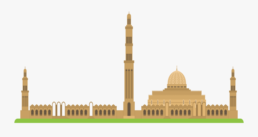 Building Ahmed Sultan Oman Mosque Islamic Church Clipart - Oman Mosque Png, Transparent Clipart