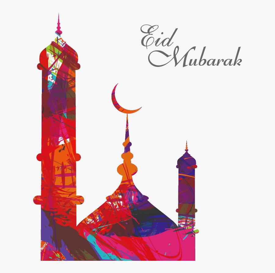 Mosque Clipart Eid - Eid Mubarak Al Adha, Transparent Clipart