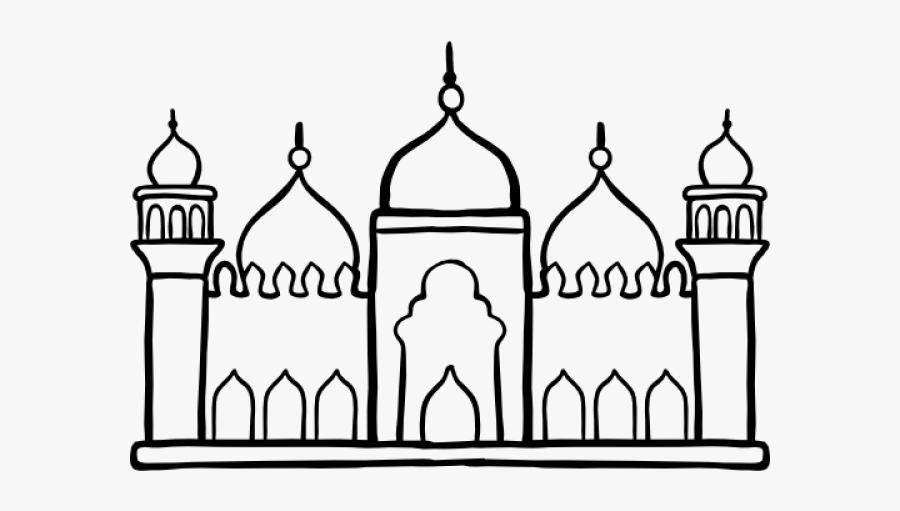 Masjid Silhouette Free Printable, Transparent Clipart