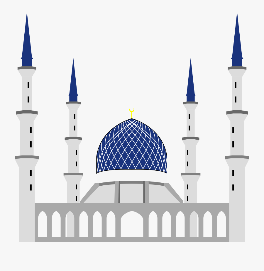Can Use For Book Cover, Muslim Masjid Clipart - Shah Alam Mosque Vector, Transparent Clipart