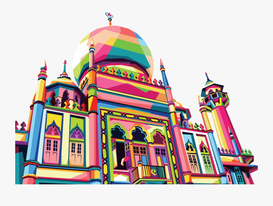 Recreation,fair,facade - Design Mosque Art, Transparent Clipart