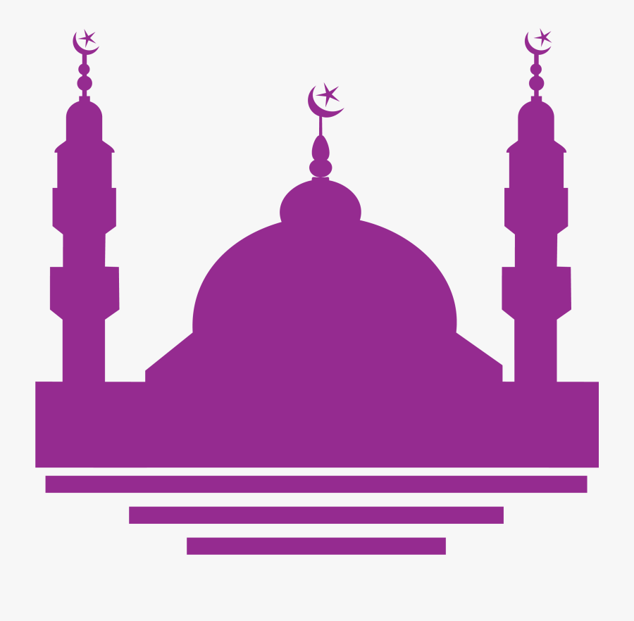 Mosque Clipart Purple, Transparent Clipart