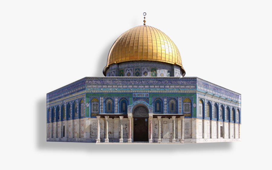 Masjid Silhouettes Art Islamic - Dome Of The Rock, Transparent Clipart