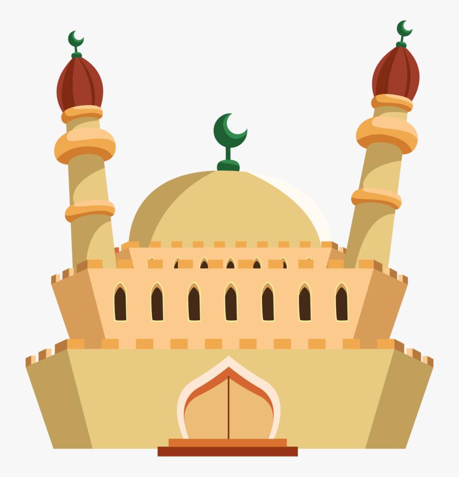 Mosque-vector - Cartoon Mosque Png, Transparent Clipart
