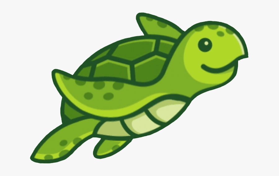 #turtle #ocean #animal #green #animated #stickers By - Easy Cartoon Sea Turtle, Transparent Clipart