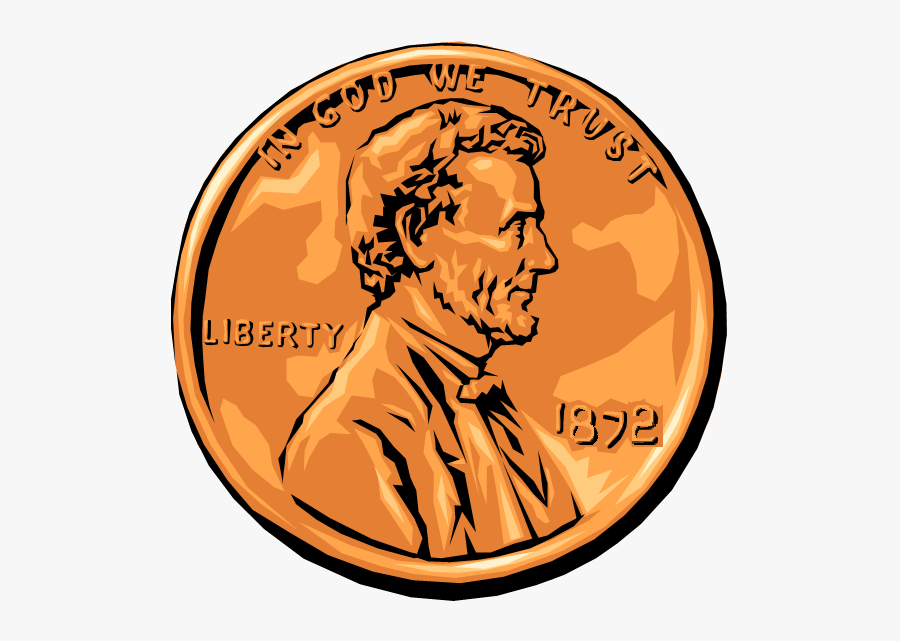 Pennies Clipart Real - Clipart Of A Coin, Transparent Clipart