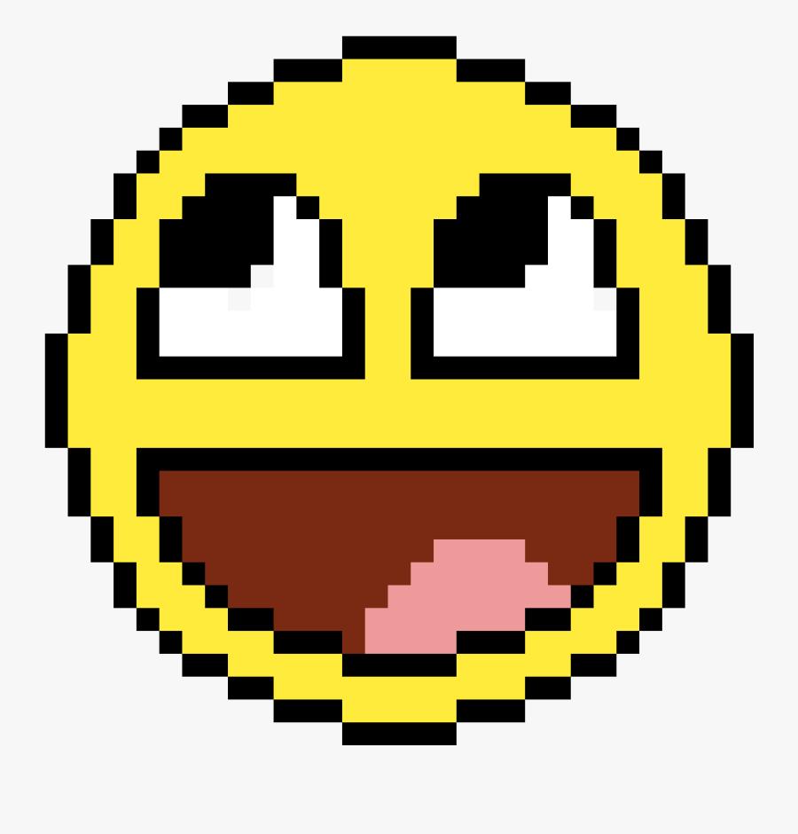 Smile Pixel Art - Pixel Art Easy Emoji, Transparent Clipart