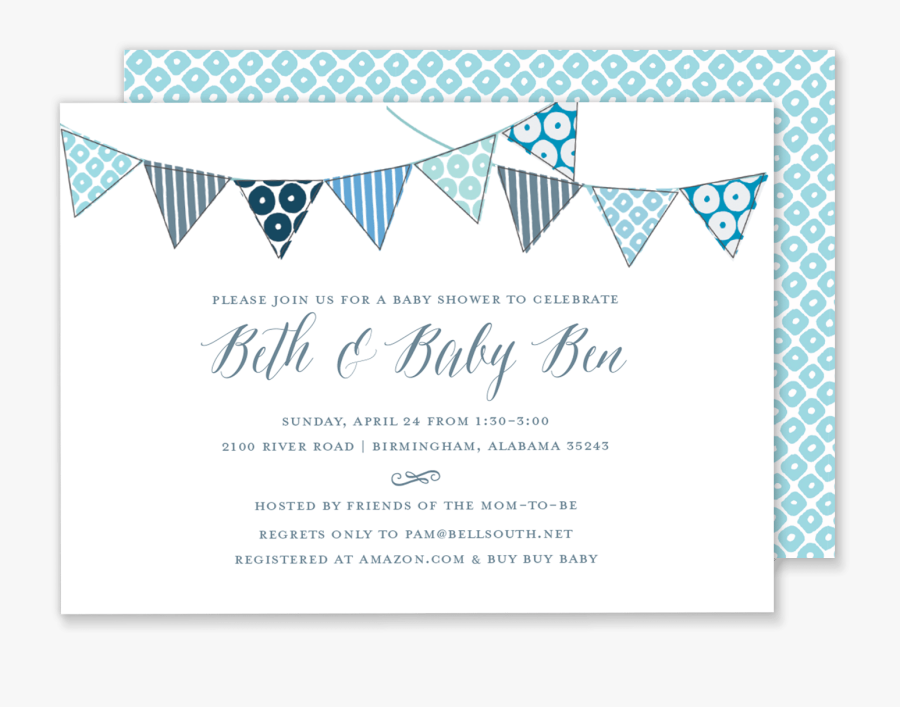 Baby Shower Invite Banner, Transparent Clipart