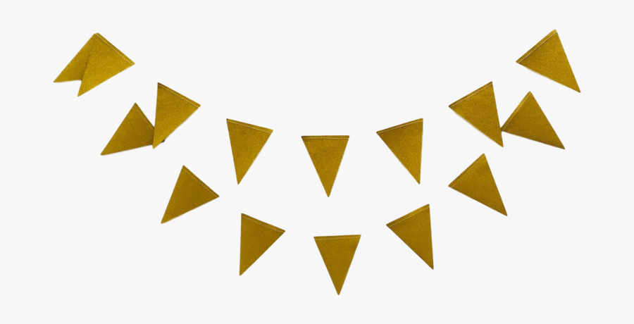 Mini Gold Party Bunting Banner For Bachelorette Or - Gold Bunting Flag Png, Transparent Clipart
