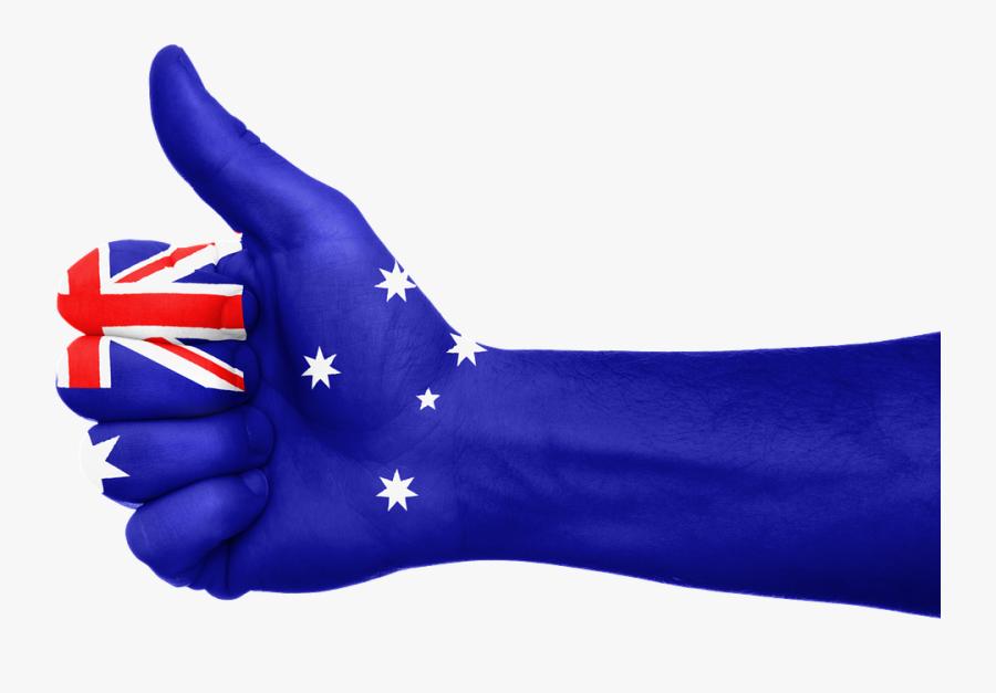 Australia Flag Hand National Fingers Patriotic - Black Friday Sale Australia, Transparent Clipart