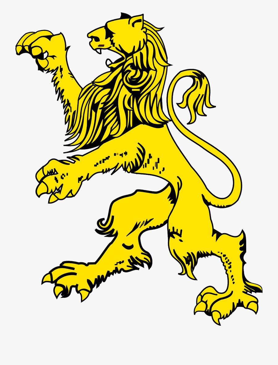 Lion, Jumping, Animal, Mammal, Golden, Yellow, Wildlife - Coat Of Arms Lion Png, Transparent Clipart