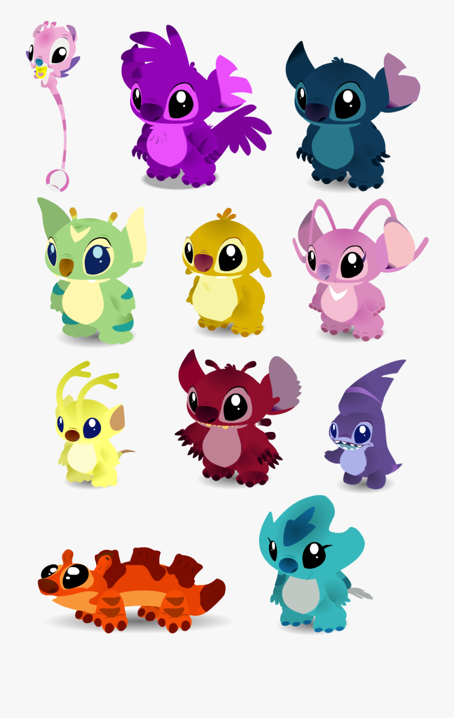 Transparent Lilo And Stitch Clipart - All The Stitches From Lilo And Stitch, Transparent Clipart