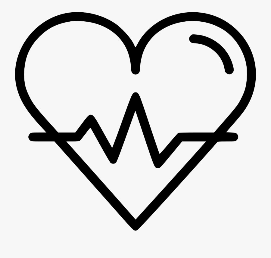 Transparent Heart Beat Png - Heart With Beat Icon, Transparent Clipart