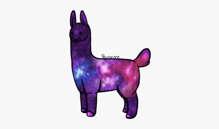 Purple Llama Cliparts - Galaxy Llama No Background, Transparent Clipart