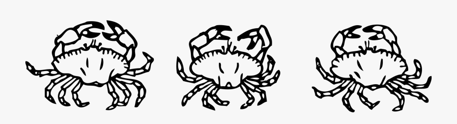 Art,symmetry,monochrome Photography - Clip Art Black And White Crabs, Transparent Clipart
