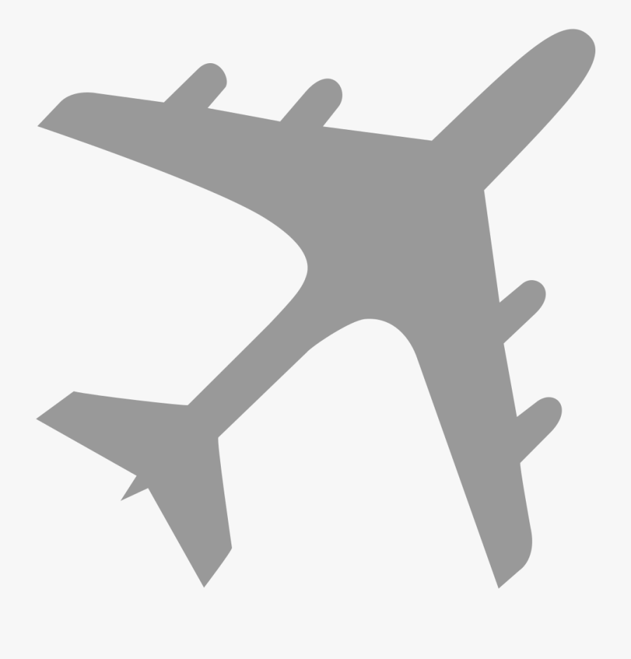 Airplane Clipart Emoji - Airplane Gray, Transparent Clipart