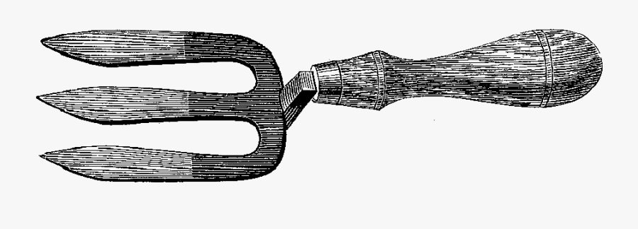 Antique Illustration Garden Tools, Transparent Clipart