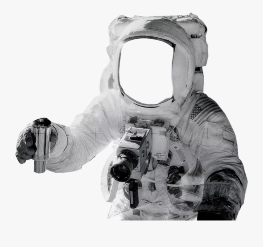 Transparent Hazmat Suit Clipart - Apollo 12 Helmet Reflection, Transparent Clipart