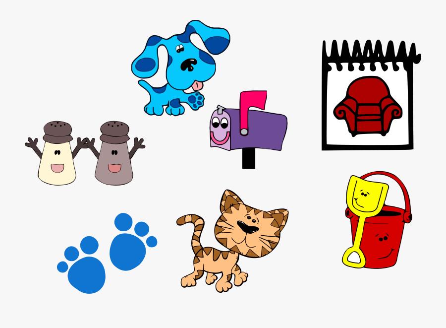 """Blue""""s Clues Clip Art And Set Clipart Png - Cartoon Cat, Transparent Clipart"""