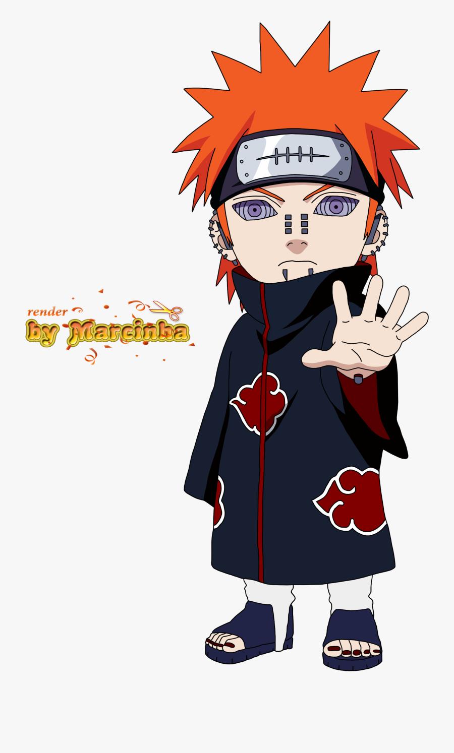 Transparent Pain Png - Naruto Shippuden Chibi Pain, Transparent Clipart