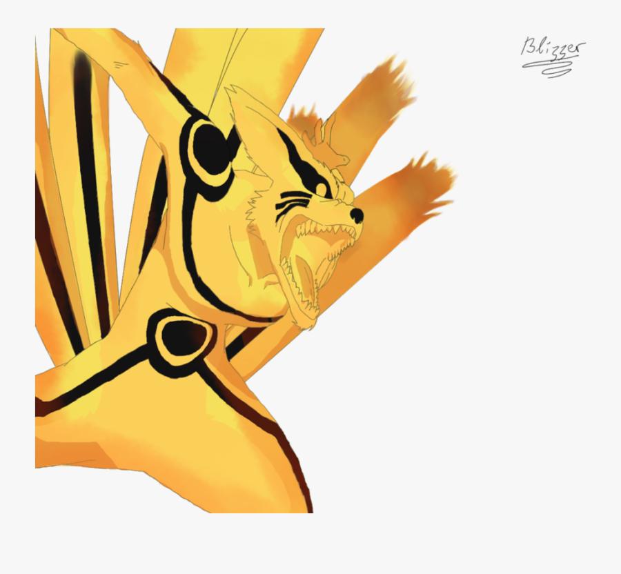 Naruto Uzumaki, Kurama, Sakura Haruno, Yellow, Cartoon - Naruto Shippuden Kurama Nine Tailed Kyuubi, Transparent Clipart