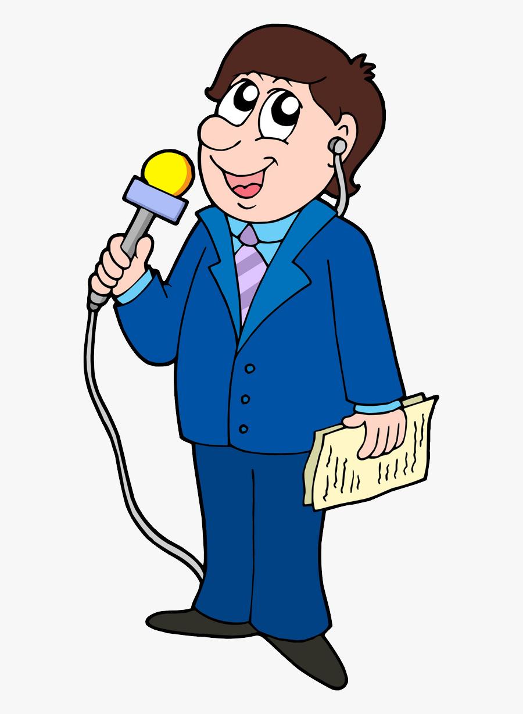 49698 - Journalist Cartoon, Transparent Clipart