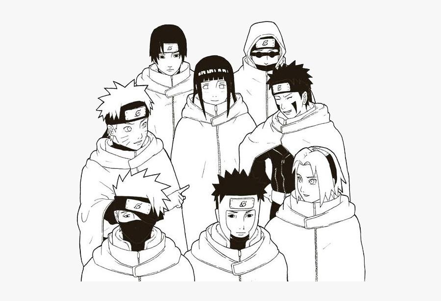 Sakura Haruno Sasuke Uchiha Kakashi Hatake Black And - Naruto Black And White, Transparent Clipart