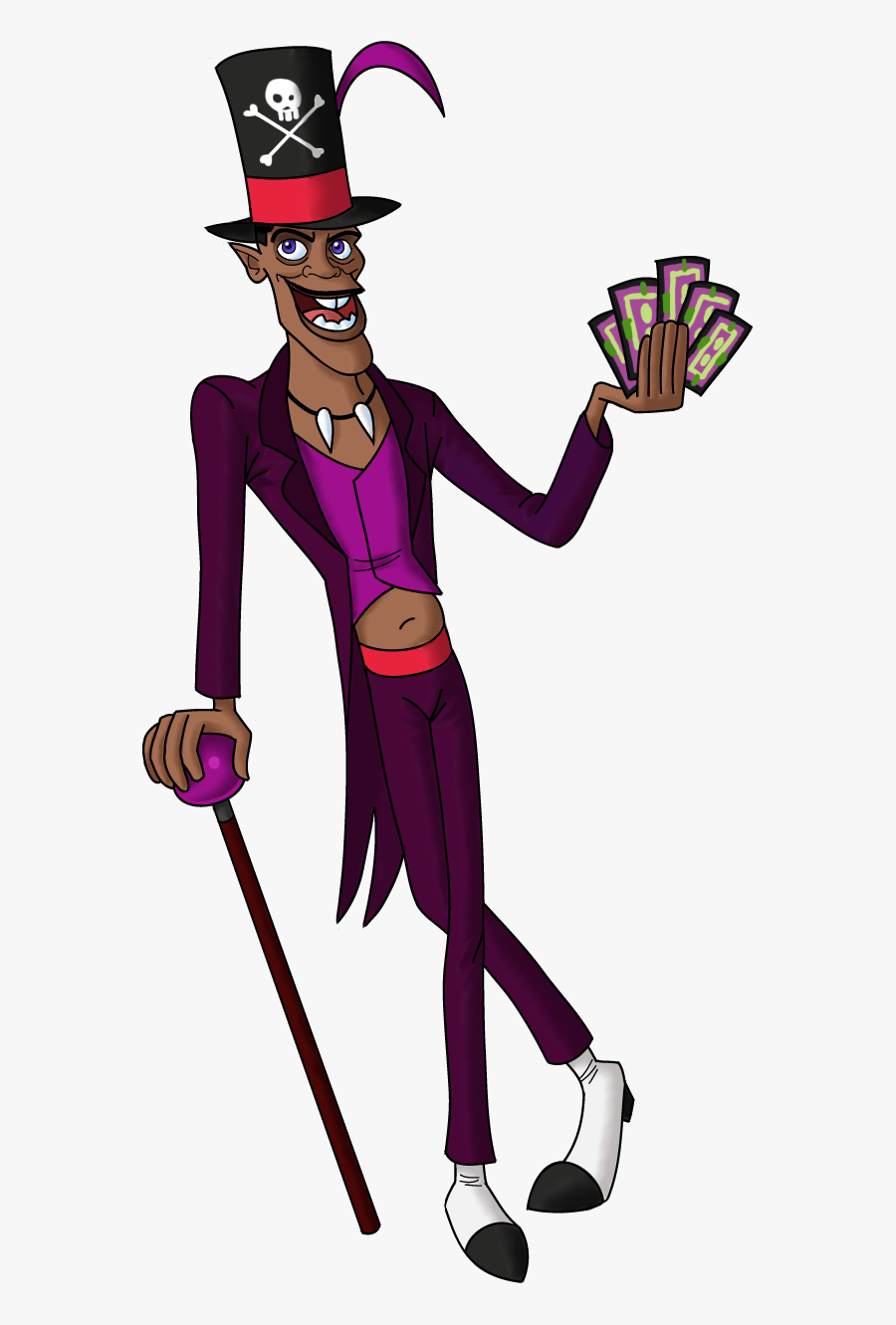 Princess And The Frog Villain Costume Dr Facilier Disney