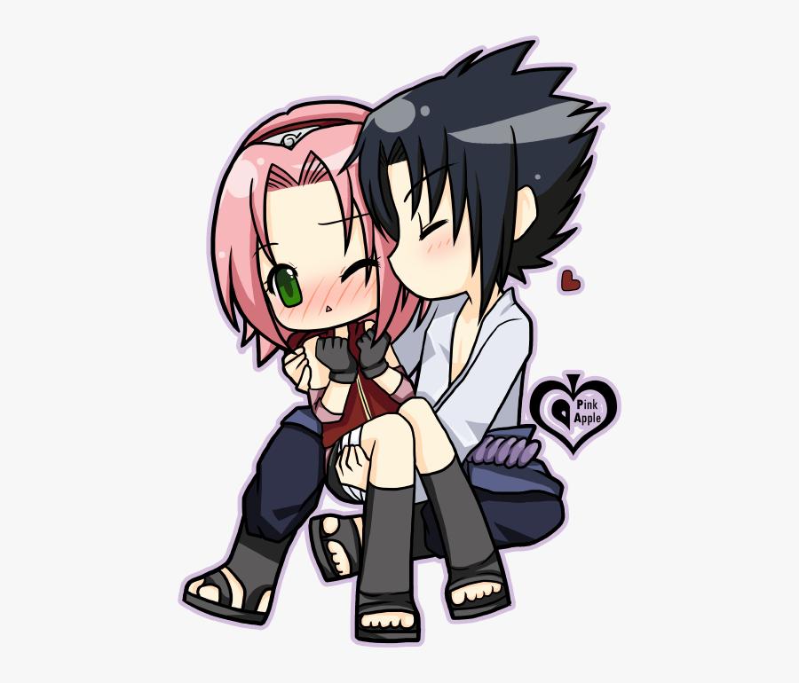 Naruto Clipart Sakura Naruto - Sakura Y Sasuke Chibi Png, Transparent Clipart