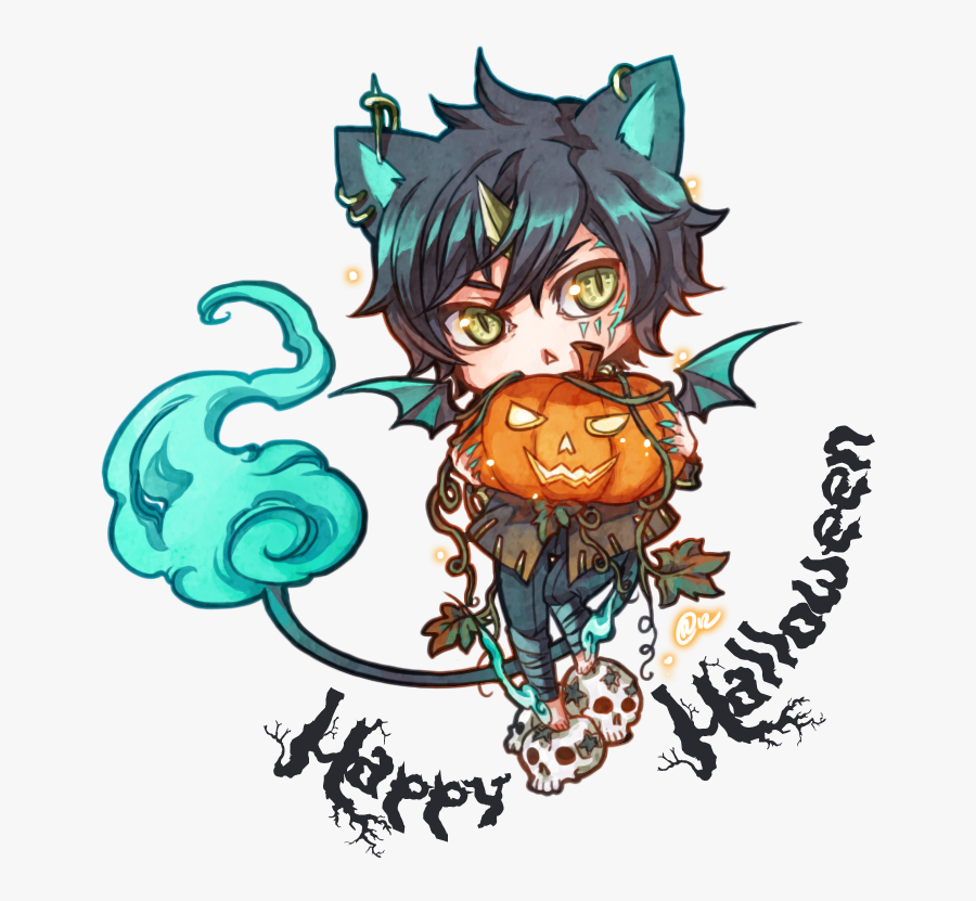 Download Picture Transparent Stock Free Cliparts Download - Anime Halloween Chibi, Transparent Clipart