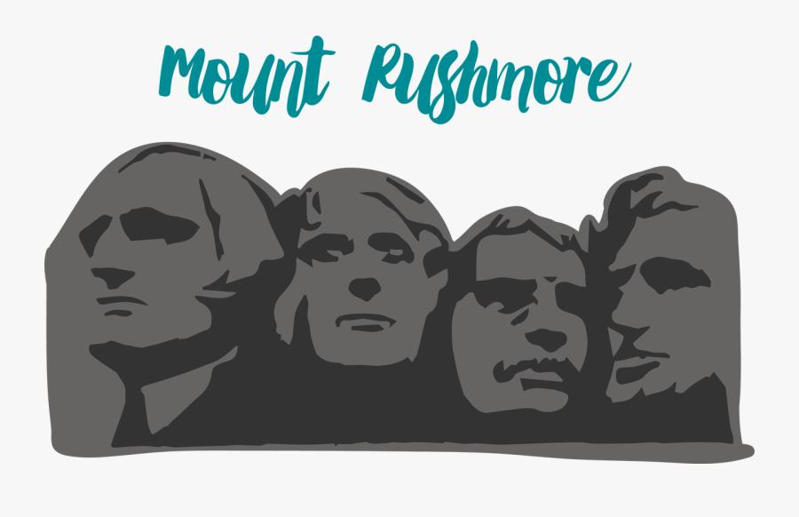 Mount Rushmore Svg Cut File - National South Dakota Day, Transparent Clipart
